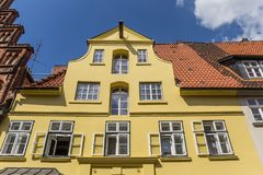 Colorful facade at the historic harbor of Luneburg Royalty Free Stock Photo