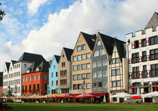 Colorful facade of houses in Germany Stock Images