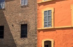 Colorful facade of Italian house Royalty Free Stock Photography