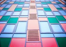 Colorful modern facade. Colorful facade of modern building as background Royalty Free Stock Photography