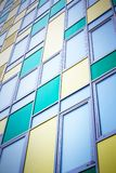 Colorful modern facade. Colorful facade of modern building as background Royalty Free Stock Photo