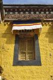Colorful facade of Tibetan house Royalty Free Stock Photos