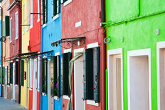 Colorful facades Royalty Free Stock Images