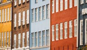 Colorful facades. Of Copenhagen (Denmark stock photo