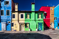 Colorful Facades in Burano, Venice Stock Image