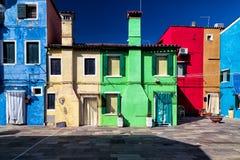 Colorful Facades in Burano, Venice Stock Image
