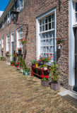 Colorful facades in a historic beguinage Royalty Free Stock Image