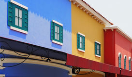 Colorful facades mediterranean style Royalty Free Stock Photography
