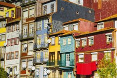 Colorful facades of old houses in Porto, Portugal Stock Photography