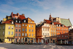 Colorful facades in Old town in Warsaw, Poland Stock Image