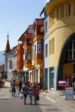 Colorful facades of Ruzomberok Royalty Free Stock Photography