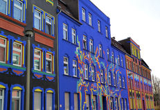 Colorful facades in a street Stock Photo