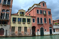 Colorful facades of Venetian houses Stock Image