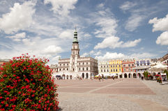 Colorful Facades - Zamosc City - Poland Stock Photography