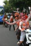 The Colorful Face of Joko Widodo Supporter Stock Photos