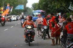 The Colorful Face of Joko Widodo Supporter Royalty Free Stock Photos