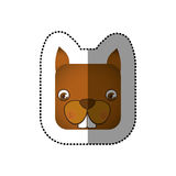 colorful face sticker of squirrel in square shape Stock Image