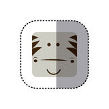 colorful face sticker of zebra face in square frame Royalty Free Stock Images