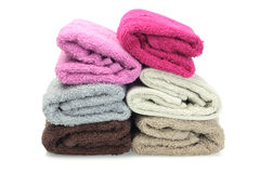 Colorful Face Towels Stock Photos