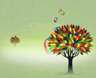 Colorful fairy tree Royalty Free Stock Photos
