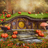 Colorful fairytale cottage Stock Photo