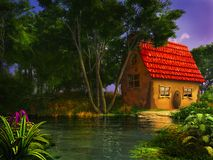 Colorful fairytale house Royalty Free Stock Image