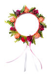 Colorful fake flower crown royalty free stock images