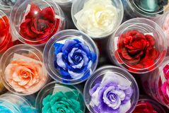 Colorful fake rose flower Royalty Free Stock Photography
