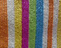 Colorful fake straw surface Royalty Free Stock Photo