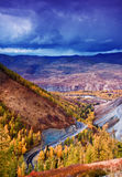 Colorful fall of China Xinjiang like painting Stock Photos