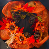 Colorful fall decoration wreath Stock Photography