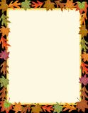 Colorful Fall Leaf Border Stock Photography