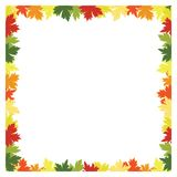 Fall leaves background frame Royalty Free Stock Image