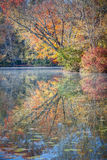 Autumn color in reflection Royalty Free Stock Image