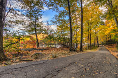 Colorful fall scenery landscapes. Royalty Free Stock Images