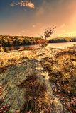 Colorful fall scenery landscapes. Royalty Free Stock Image