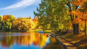 Colorful fall. Scenic autumn landscape royalty free stock photography