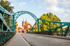Colorful fall in Wroclaw Royalty Free Stock Photography