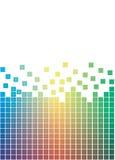 Colorful falling pixels. Illustration Royalty Free Stock Image