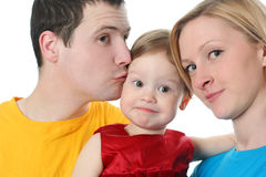 Colorful family Royalty Free Stock Image