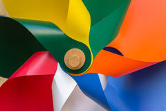 Colorful fan Stock Image