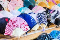 Colorful of fan. Royalty Free Stock Photo