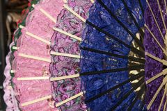 Colorful fans of Venetian lace Stock Photography