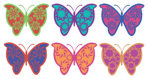 Colorful Fancy Butterfly Vector Design Royalty Free Stock Images