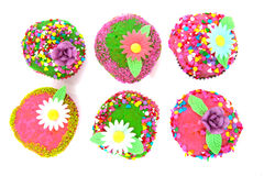 Colorful fancy cakes Stock Image