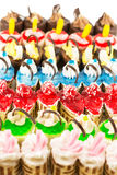 Colorful fancy cakes Royalty Free Stock Photography
