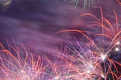 Colorful fancy fireworks Royalty Free Stock Photos