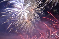 Colorful fancy fireworks Royalty Free Stock Photo