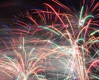 Colorful fancy fireworks Royalty Free Stock Images