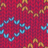 Seamless knit pattern Royalty Free Stock Image